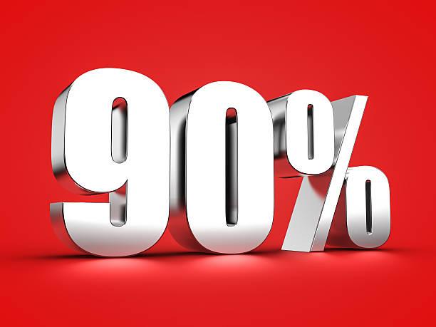 90 percent sign – Foto