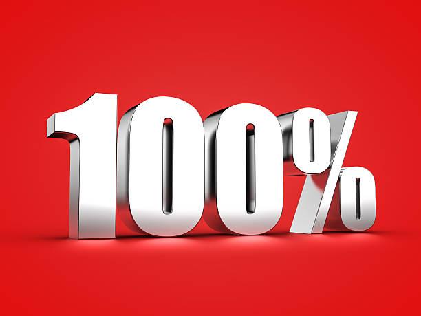 100 percent sign – Foto