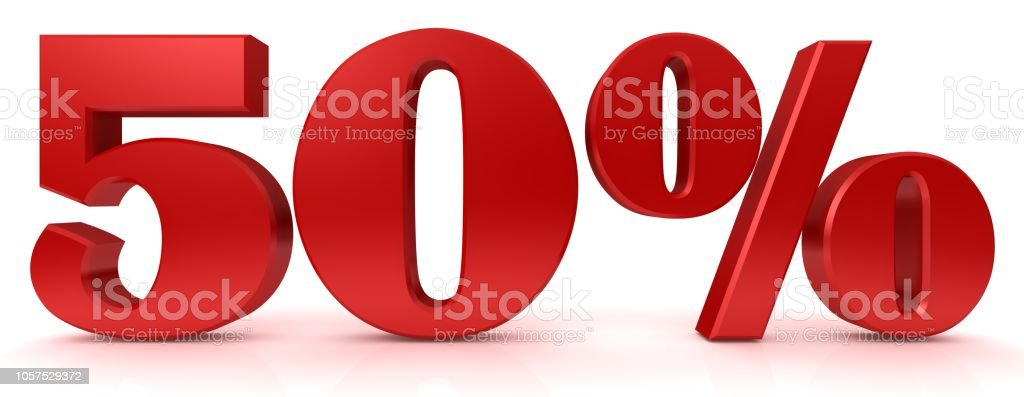 a2861ac6c 50% muestra rojo 3d representación símbolo interés porcentaje descuento  venta icono precio reducción etiqueta etiqueta