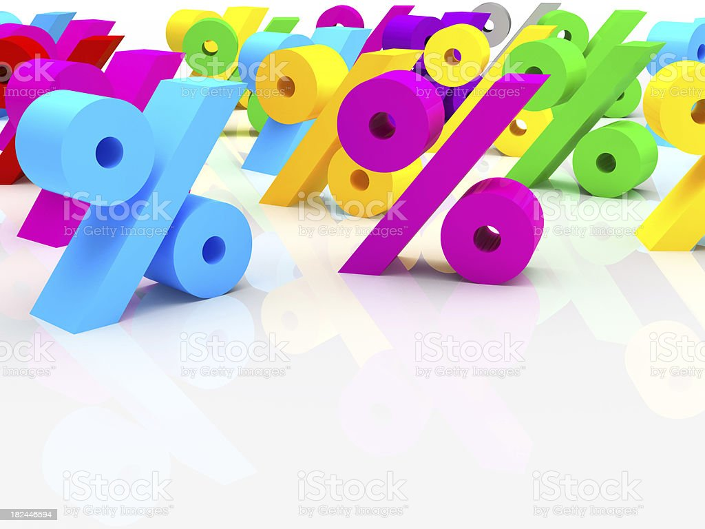 percent signs royalty-free stock photo