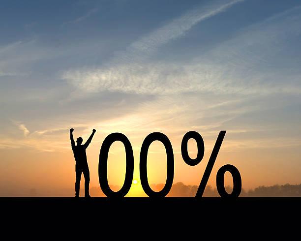 100 prozent erfolg - nummer 100 stock-fotos und bilder