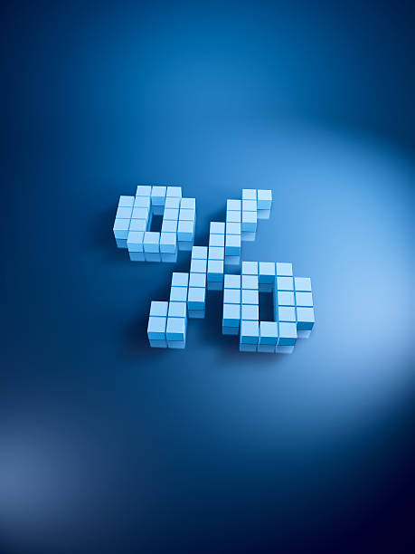 Percent Symbol Blue Cubes Vertical 3D Render. Very high resolution available! Use it for Your own composings!Related images: abstract 3d stock pictures, royalty-free photos & images