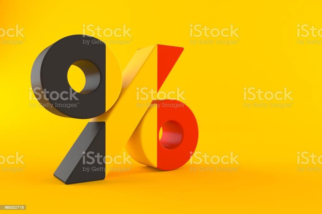 Símbolo de porcentaje con bandera belga - foto de stock