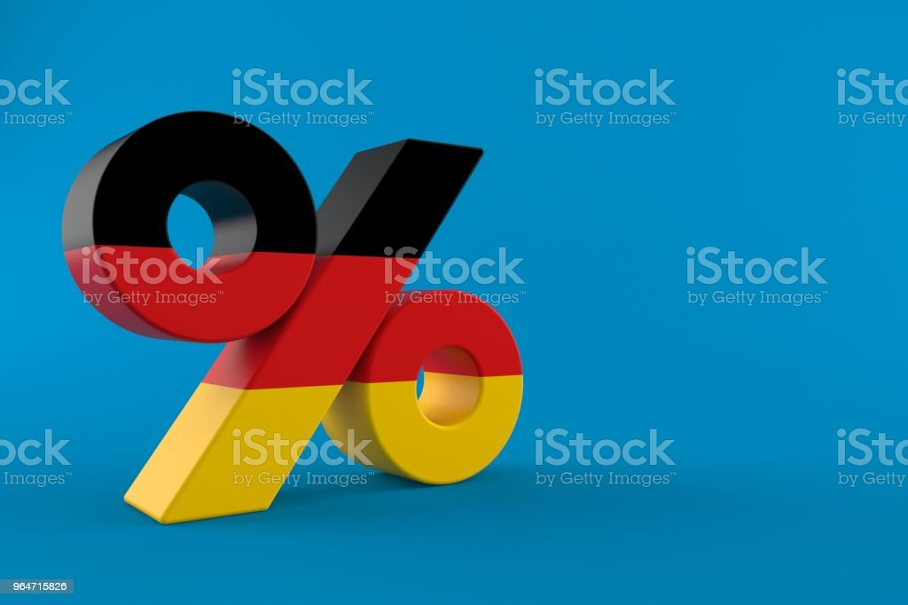 Percent symbol with german flag royalty-free stock photo