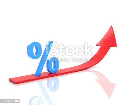 istock Percentage Concept - 3D Rendered Image 922496788