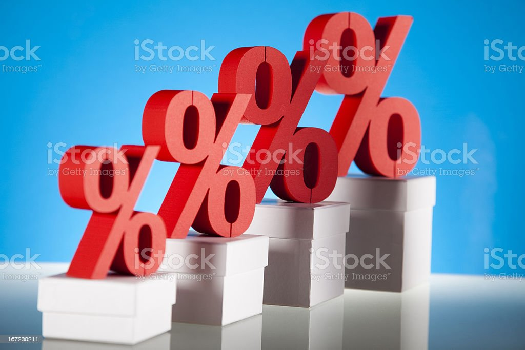 Percentage, Concept of discount stock photo