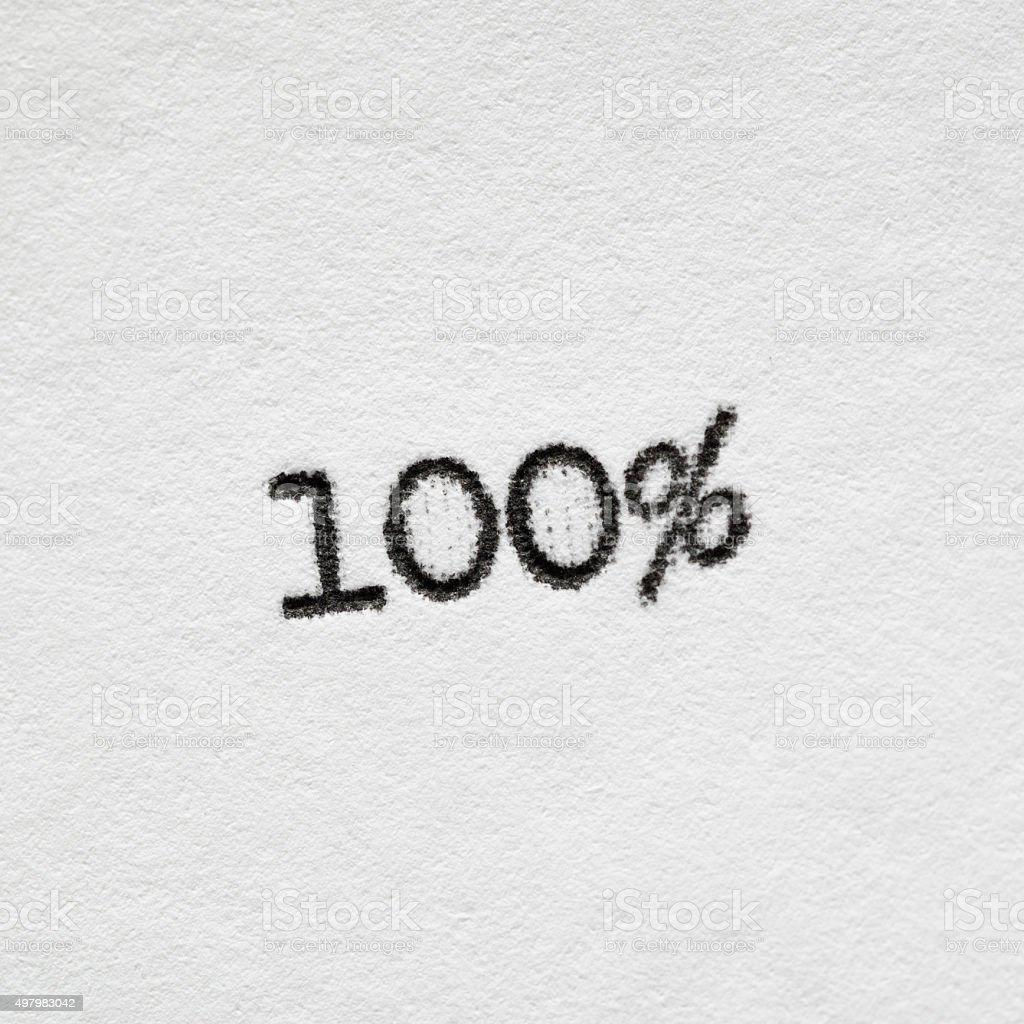 100 percentage stock photo
