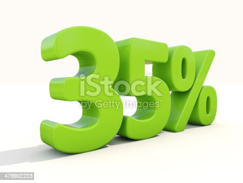 906580458 istock photo 35% percentage rate icon on a white background 476902223