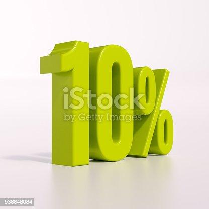 istock Percentage sign, 10 percent 536648084
