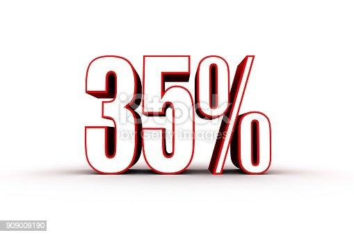 906580458 istock photo Percentage sign, 35 percent 909009190