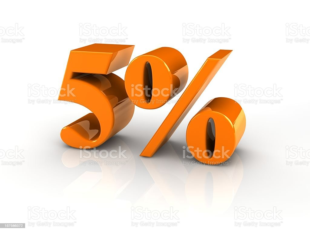 percentage sign 5% royalty-free stock photo