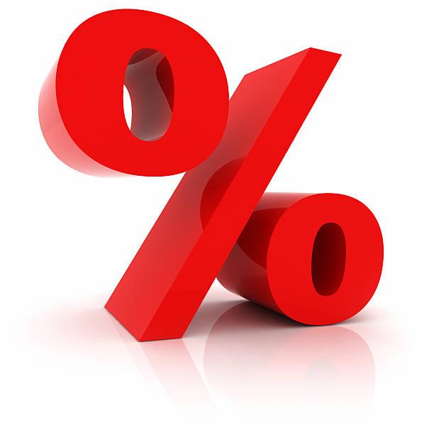 Sinal de Percentagem - foto de acervo