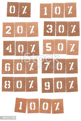 istock Percentage Stencil Word 182427766