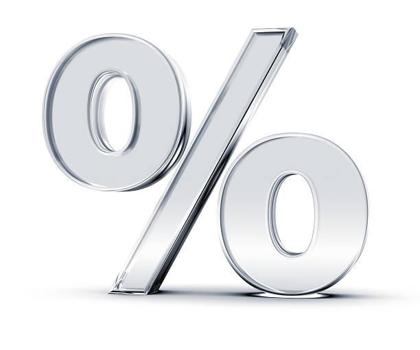 Porcentagem símbolo - foto de acervo