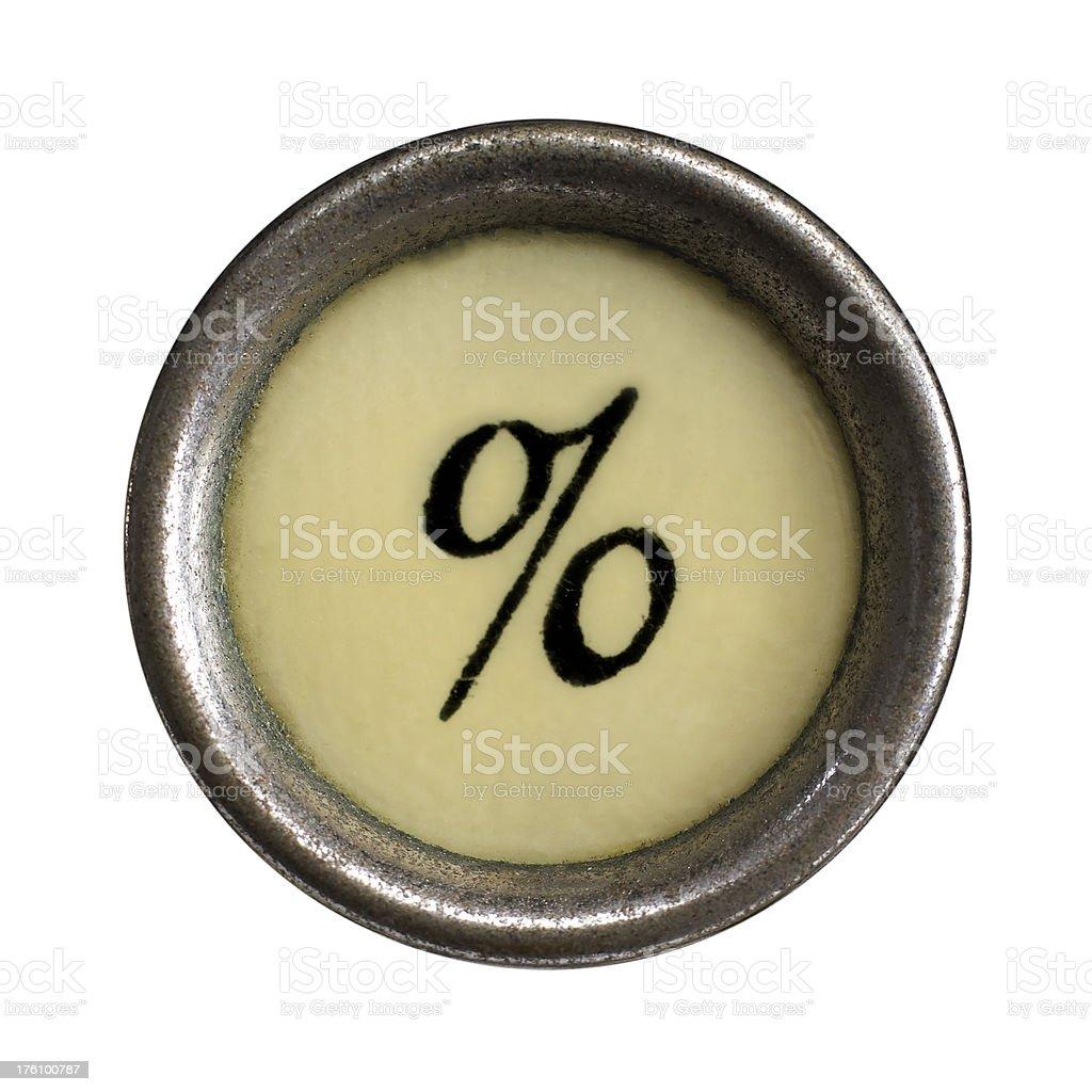 Prozentsatz-symbol Lizenzfreies stock-foto