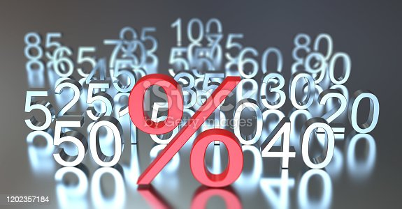 istock Percentage Symbol with numbers 1202357184