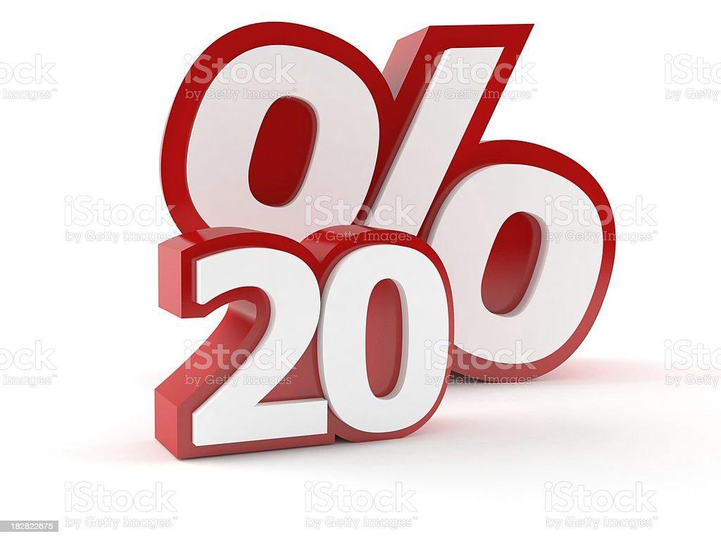 Percents royalty-free stock photo