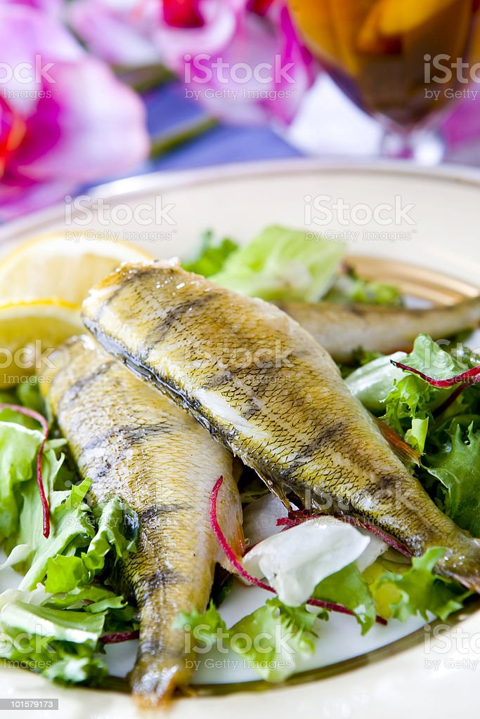 perch meal royalty-free stock photo