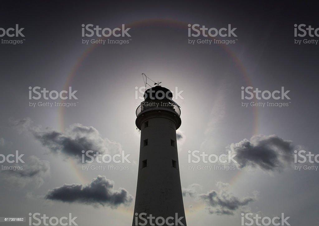 Perch Rock Lighthouse Halo royalty-free stock photo