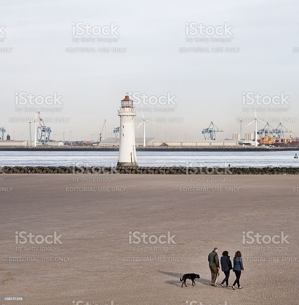 Perch Rock Lighthouse newbrighton. stock photo