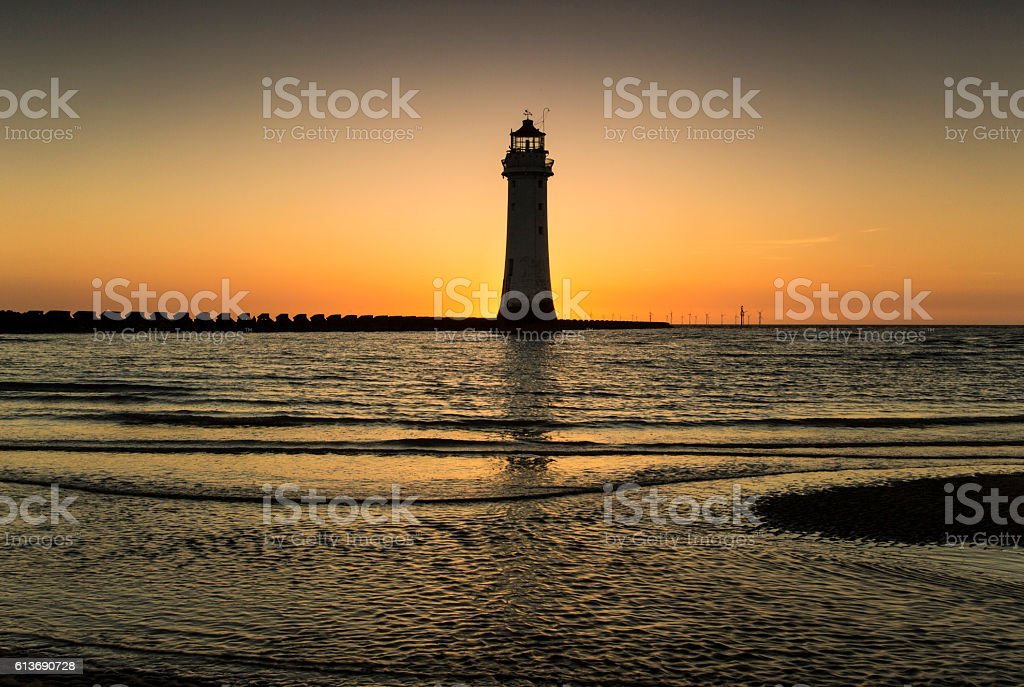 Perch Rock Lighthouse - Royalty-free Building Exterior Stock Photo