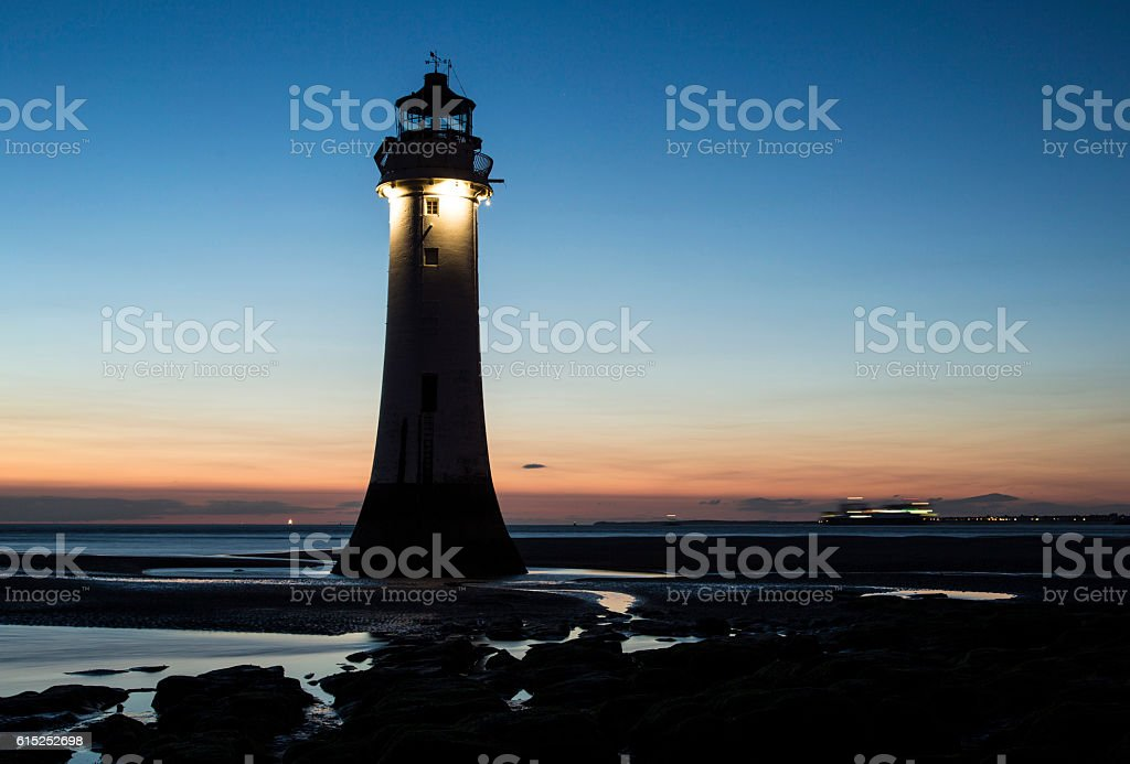 Perch Rock Lighthouse royalty-free stock photo