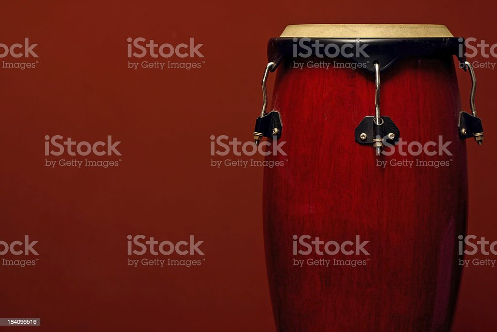 Percussion Instrument on Red stock photo