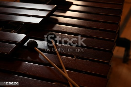 marimba used by an orchestra or philharmonic performer.