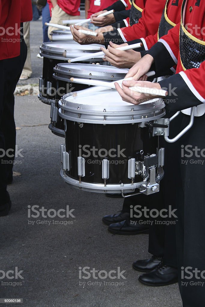 percussion line stock photo