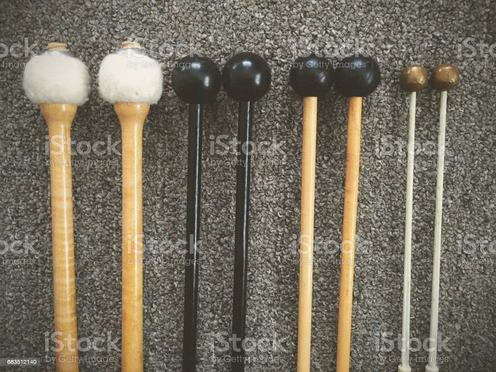 Percussion Mallets stock photo