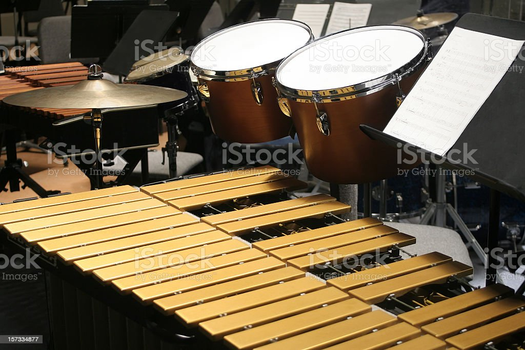 Percussion Setup stock photo
