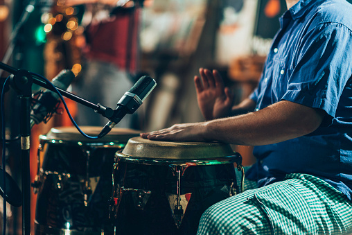 Percussionist at concert