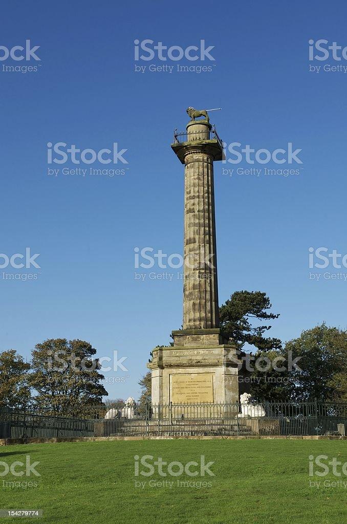 Percy Monument, Alnwick, Northumberland royalty-free stock photo