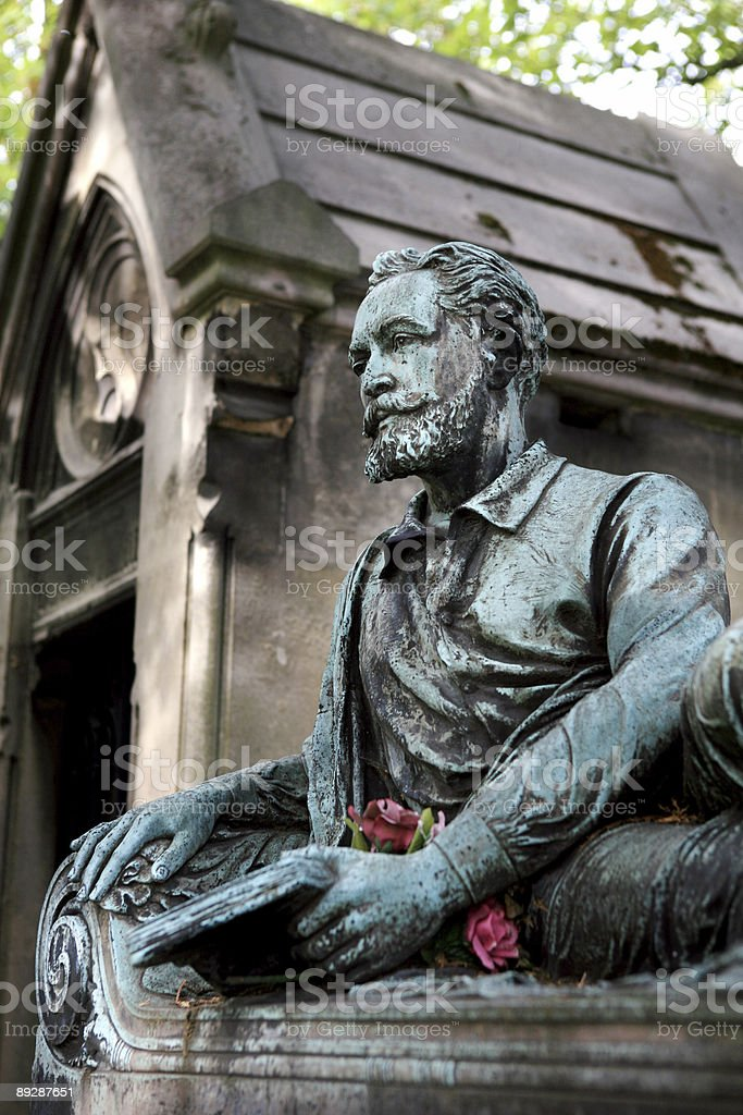Pere Lachaise Cemetery Paris, France royalty-free stock photo