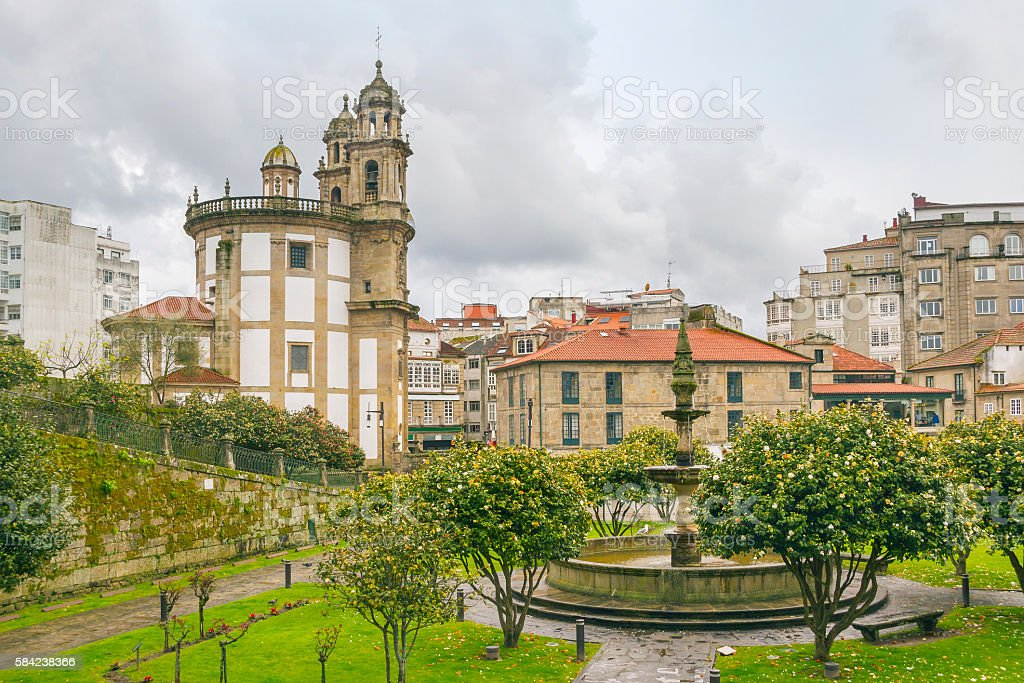 Peregrina virgin church in Pontevedra royalty-free stock photo