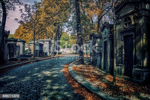 Fall in Pere-Lachaise cemetery