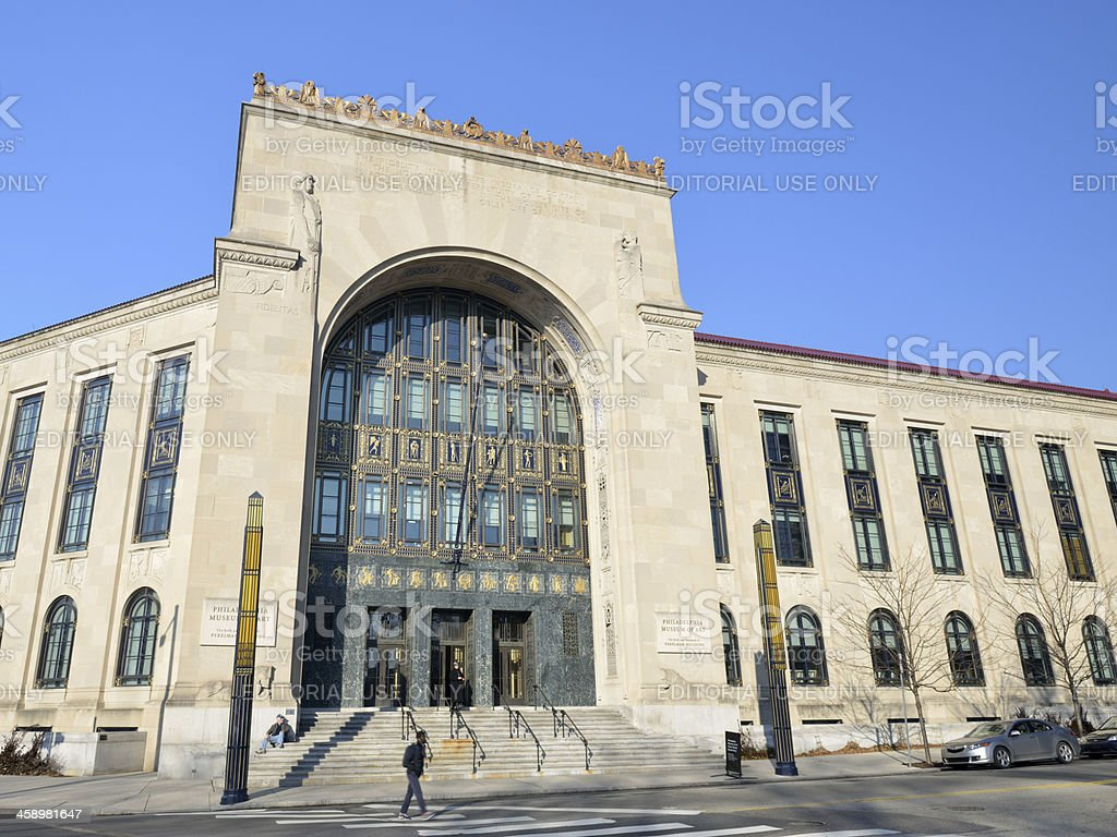 Perelman Building of Philadelphia Art Museum stock photo