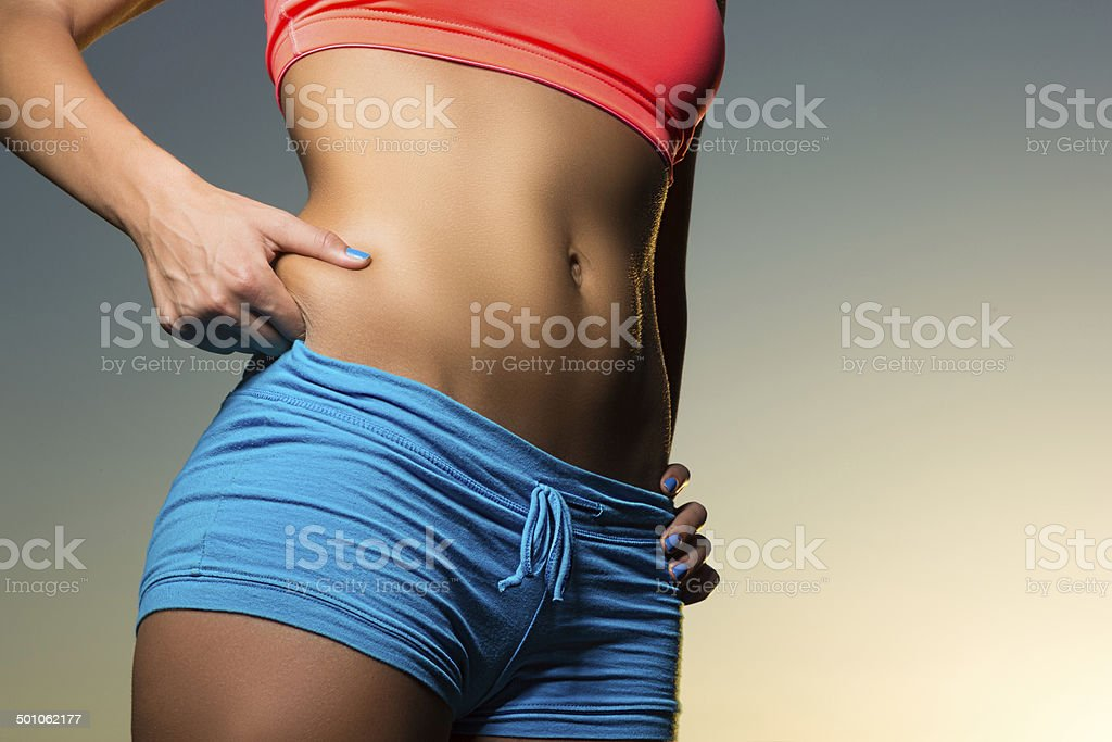 Perfect abs stock photo