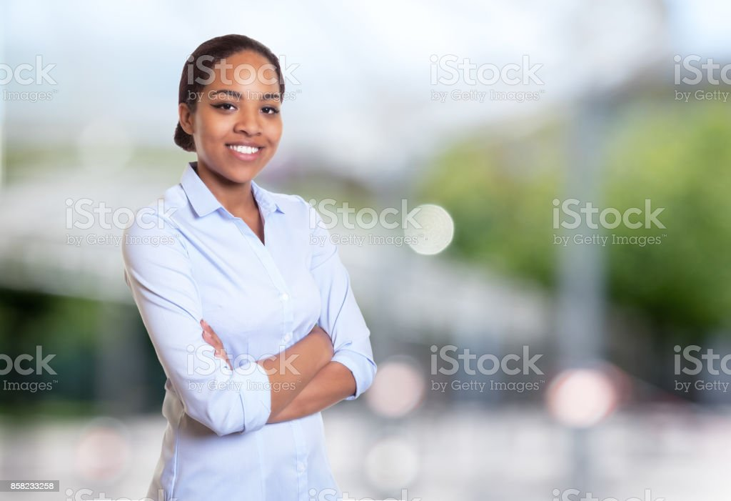Perfect african american businesswoman stock photo