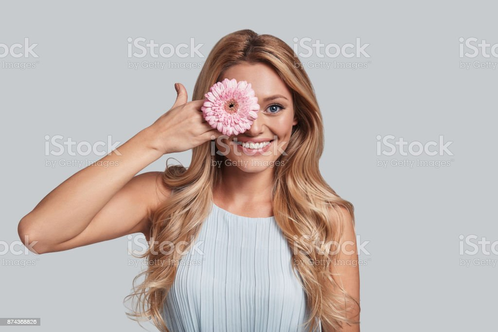 Perfect as a flower. stock photo