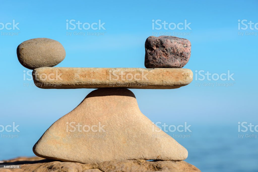 Perfect balance of stones stock photo