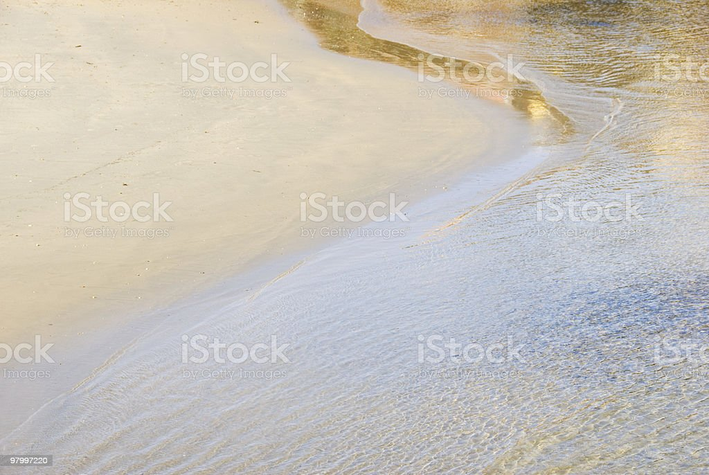 Perfect beach royalty free stockfoto