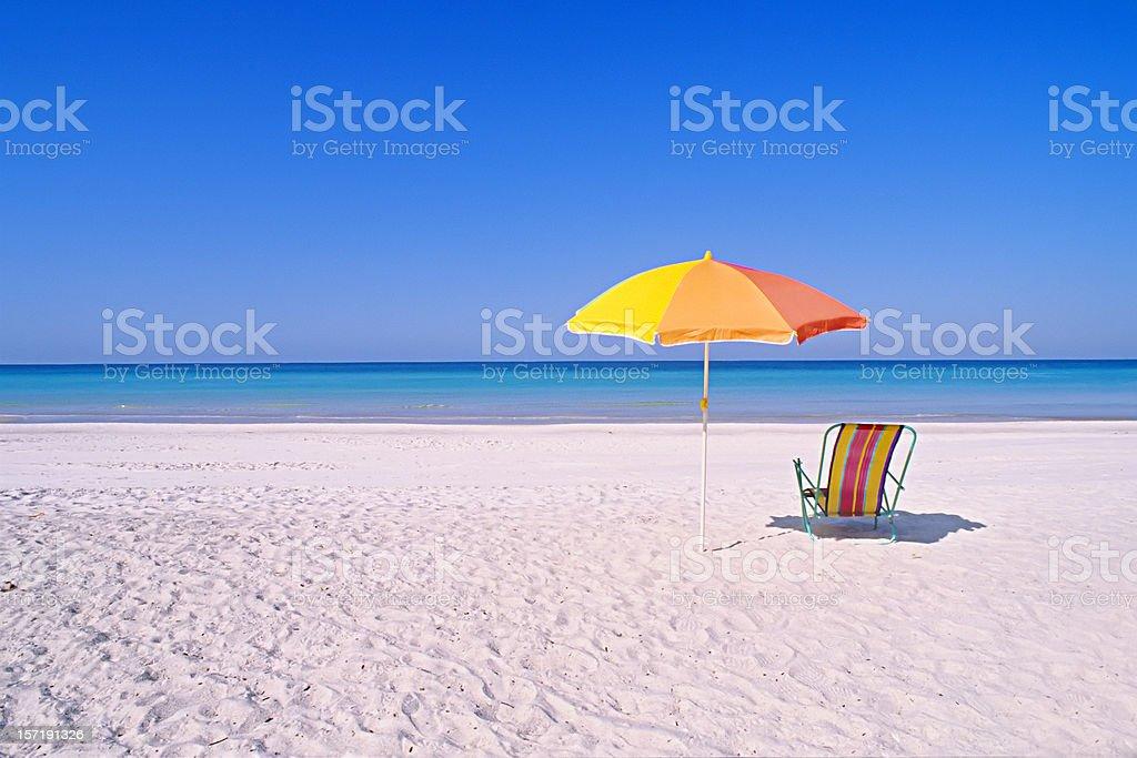 Perfect beach setting stock photo