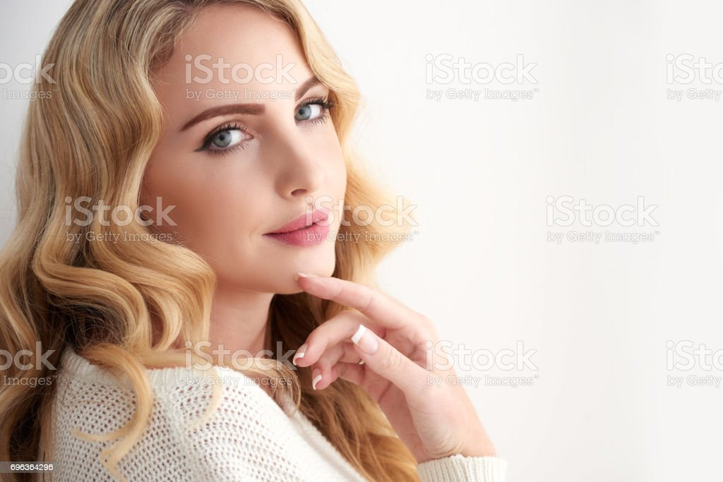 Perfect Blond Beauty stock photo