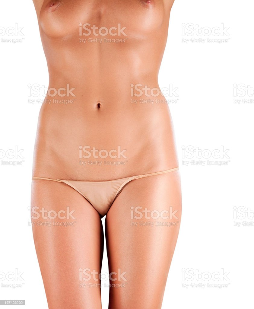 Perfect Breasts And Waist With No Cellulite Royalty Free Stock Photo