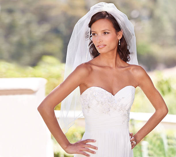 perfect bridal pose - veil stock pictures, royalty-free photos & images