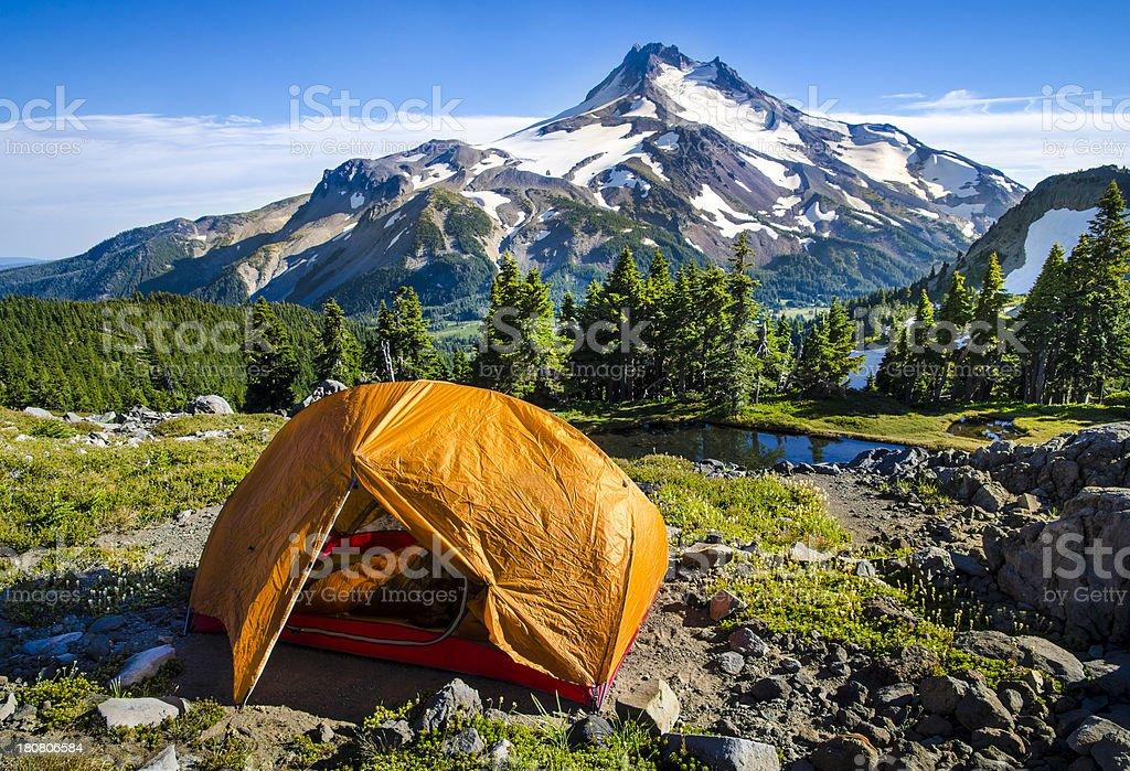 Perfect Campsite stock photo