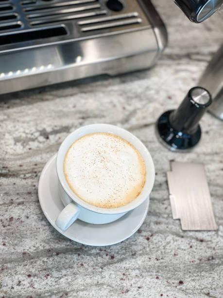 perfect cappuccino stock photo