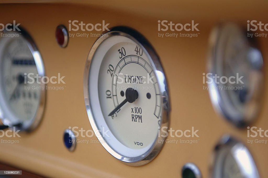 Perfect oldtimer tachometer royalty-free stock photo