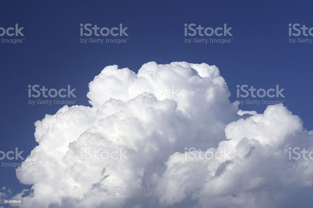 perfect cloud in the blue sky stock photo